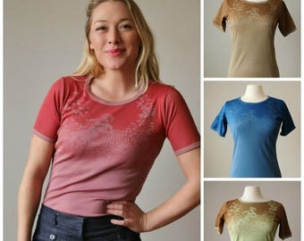 SPRING SALE Deadstock, 1970s Cupid's Garden Tee >>> Size Extra Small to Large
