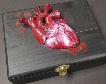 Sculpted Human Heart trinket box