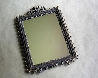 Vintage Brass Filigree Mirror Italianate Wall Decor
