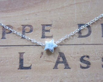 Tiny Sterling Silver Star Necklace