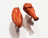 Reserved for Imb4364- Buffalo Chicken Wings Cuff Links - Miniature Food Art - Schickie Mickie Handmade Original