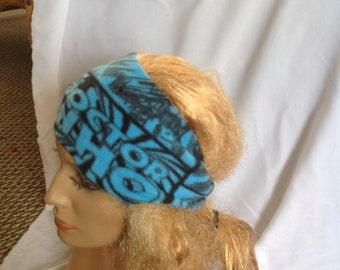 Dr Who Fleece Winter Earwarmer Headband, Fleece Headband, Ear Warmer Headband, Earwarmer Headband, Winter Headband
