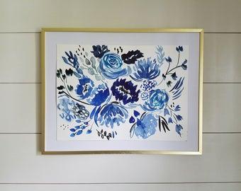 Floral Watercolor Painting - Original