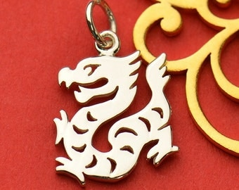 The Dragon Necklace - Solid 925 Sterling Silver Chinese Zodiac Year of the Dragon Charm - Insurance Included