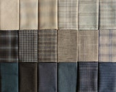Japanese Taupe fabrics - 18 mostly neutral fat eighths