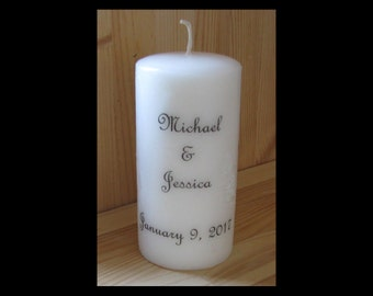 Wedding Gift, Gift for Couple, Personalized Candle, Makes a Great Gift,  Anniversary Gift, Engagement Gift, Candle, Home Decor