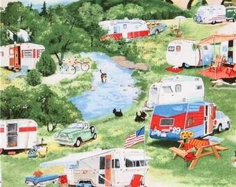 192980 summer caravan trailer camping fabric Vintage Trailers Elizabeth's Studio