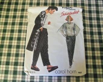Vogue Patterns Individualist Carol Horn 1907 Size 12 Uncut