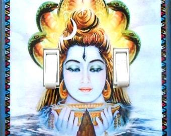 Religious figures w/ MATCHING SCREWS- Deities switch plates- Buddhism Hinduism Buddhist wall decor yoga Tibetan Shiva Buddha Shiva Guadalupe