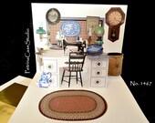 Antique Curiosity Shop Pop-Up Card - Item 1467 Blank Inside Hobby card