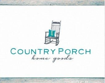 Rocking Chair Logo,  Real Estate Logo, Business Logo,  Premade Logo, Furniture Logo,  Interior Designer Logo, Pineapple Logo