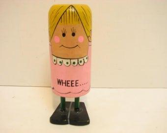 Vintage Popsie Wonderful Birthday Wishes Whee... Mod Mid Century Hippie Toy Pride Creations