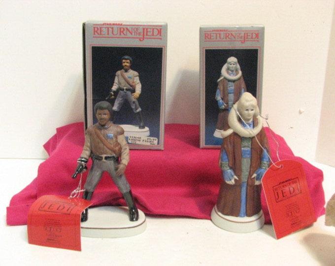 Vintage ROTJ Lando Calrissian & Bib Fortuna Sigma Porcelain Figurines NMIB in Box ca: 1983, Star Wars Return of the Jedi by Towle