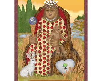 The Empress Cryptozoology Tarot Print