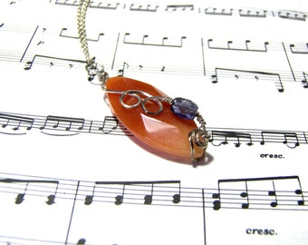 Carnelian Pendant Iolite Pendant Top Selling Pendant Best Selling Jewelry Gift Ideas