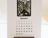 2017 Desk Calendar  Block Print Of The Month