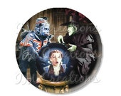 "45% OFF - Pocket Mirror, Magnet or Pinback Button - Wedding Favors, Party themes - 2.25""- Wizard of Oz Flying Monkey MR415"