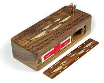 Engrave Trout Fish Cribbage Board