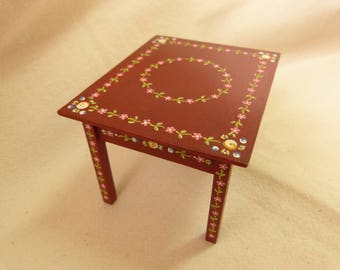 12th scale dollhouse dining table  /  kitchen table