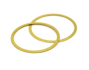 Ring Earring Finding, 40 Raw Brass Connector Rings  (28mm) Brs 451 A0189