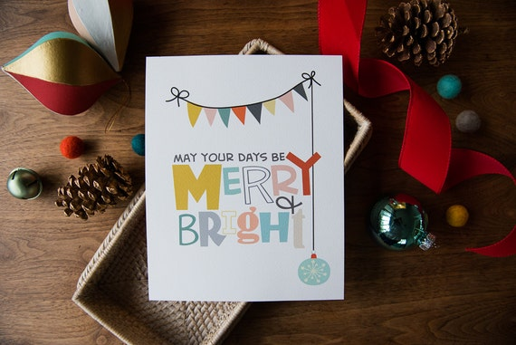 Merry and Bright - 8x10 print
