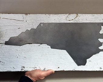 Metal North Carolina sign barn wood authentic reclaimed wood Outer Banks Wedding Beach House Dreams OBX housewarming new home college grad