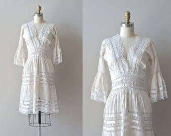 Balandra lace dress | white lace 1950s dress • vintage 50s mexican wedding dress