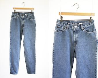 Vintage Woman's Denim 512 LEVI Slim Fit Tapered Leg High Waist Perfect Retro Mom Blue Jean