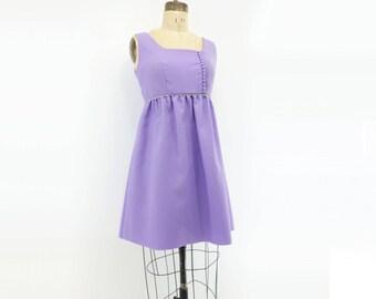 60s Vintage Dress 60s Baby Doll Dress 60s Mini Dress 60s Mod Dress Mauve Mini Dress 60s Mini Party Dress Amethyst Party Dress s