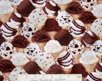 Food Fabric - Brain Freeze Packed Ice Cream - Benartex Kanvas Studio YARD