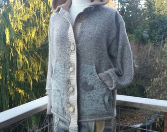 Traveller's Coat all upcycled wool size LxL