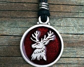 Stag Deer Pewter Pendant