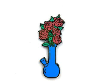 Sale- Blue Romantic Bong Lapel pin