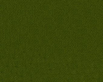 Home dec weight wide cotton canvas olive duck
