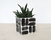 Large Brick Patterned Ceramic Square Planter - Single - Made to Order