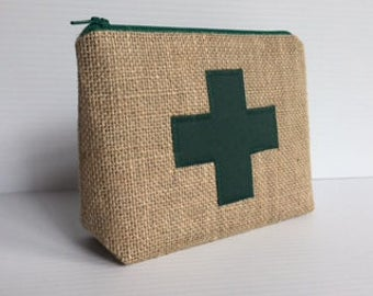 First aid / medicine bag burlap