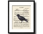 The Beatles Blackbird Sheet Music Art Print, Blackbird Art Print, Blackbird Song Art Print,The Beatles Music Art Print