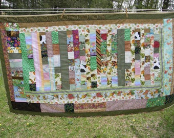 Scrappy Colorful Summer Quilt