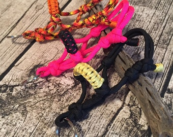 """YOU PICK! Horse """"Rope"""" Halter Keychain Over 90 Colors to choose from Custom Made to Order - Patterned Colors"""