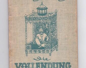 vintage 1944 Die Vollendung German language book