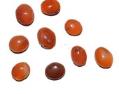 Clearance sale Carnelian cabochon small oval cab - irregular imperfect - natural red orange agate stone ring pendant earrings coyoterainbow