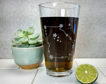 Georgia State Constellation Stars | Etched Pint Glass
