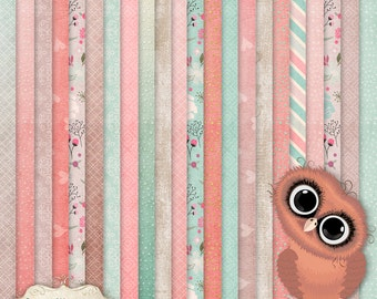 Digital Scrapbooking Papers - Simply Sweet - 23 Designed Papers - Card Stock - Craft Papers - 12 x 12 Inches - INSTANT DOWNLOAD - 3.00