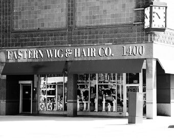 Detroit Photography Metallic Photographic Print of Eastern Wig Hair Company on Woodward