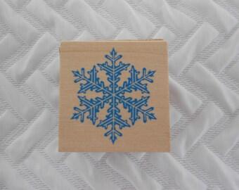 DESTASH - All Night Media Rubber Stamp, Snowflake Winter Stamp, Rubber Stamp, Card Stamp, Scrapbooking Stamp