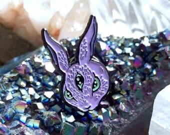 All Seeing Rabbit enamel pin