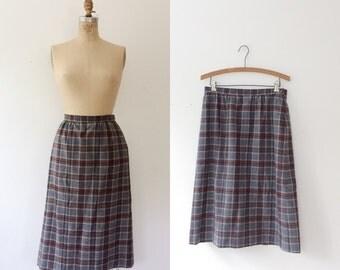 Pendleton wool skirt / vintage plaid skirt / Itinerary skirt