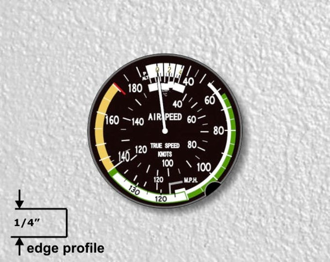 Aviation Airspeed Indicator Medium Wall Plaque