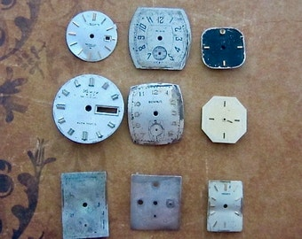 Vintage Antique Watch  Assortment Faces - Steampunk - Scrapbooking D21