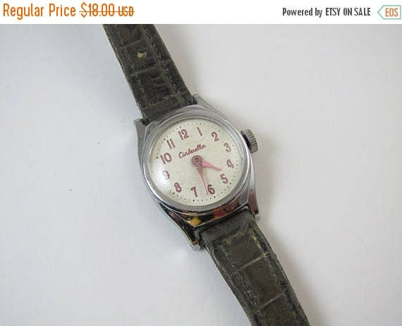 SPRING CLEANING SALE Needs Serviced wrist watch vintage Cinderella Walt Disney Us Time cartoon character girls childs childrens does not run